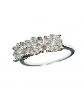 Anello donna oro bianco Trilogy con diamanti ct. 0,52 misura 14 - Ny Nai by Fani gioielli
