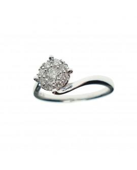 Anello donna oro bianco con diamanti ct. 0,37 misura 14 - Ny Nai by Fani gioielli