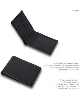 Portafoglio pelle soft touch black - Montegrappa