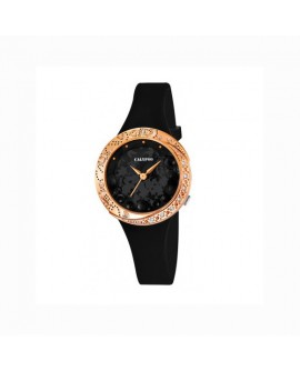 Orologio solo tempo donna black rose gold - Calypso by Festina