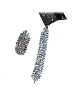 Orecchini donna acciaio bijoux con cristalli Galassia - KèMiRA By Gianni Carità