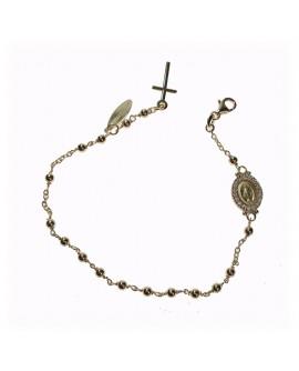 Bracciale unisex Rosario argento gold con cristalli - Mediterraneo gioielli