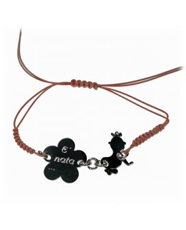 Bracciale tessuto My Family in argento personalizzabile - My Jewels