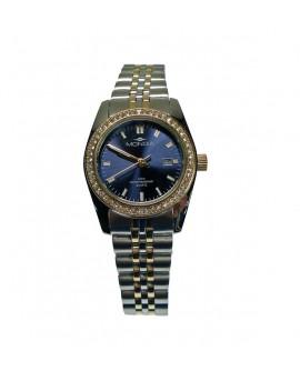 Orologio solo tempo donna quarzo blu acciaio bicolore - Mondia