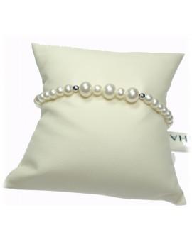 Bracciale Perle Nihama 4,5/5 oro bianco con intermezzi