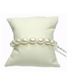 Bracciale Perle 9/9,5 e oro bianco - Nihama