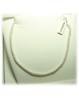 Collana Perle 4/4,5 oro bianco gancio piccolo coppette - Nihama