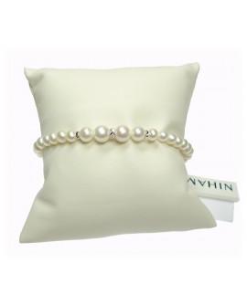 Bracciale Perle 4,5/5 e oro bianco - Nihama