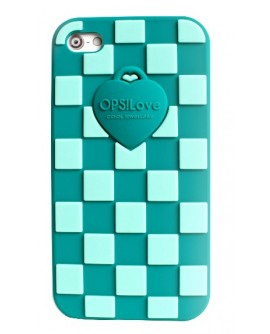 OPS!COVER Damier Iphone 4/4s Verde in silicone profumato - OpsObjects - OUTLET € 11,00