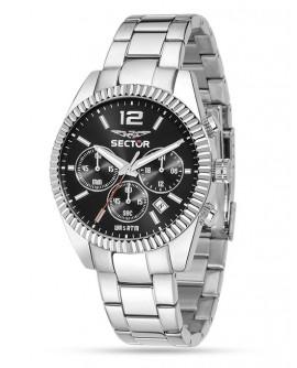 Orologio uomo acciaio cronografo Sector 240 black