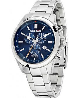 Orologio uomo cronografo Sector 180 blu acciaio