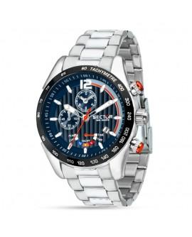 Orologio uomo cronografo Sector 330 blu Yacht Timer acciaio
