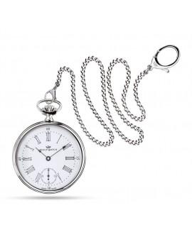 Orologio uomo Tasca Philip Watch meccanico con sportellino e catena Swiss Made Savonnette