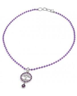 Collana pendente donna acciaio e alluminio viola Just Neon - Just Cavalli - OUTLET - SALDI