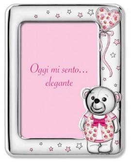 Portafoto personalizzabile Orsetto Rosa 13x18 - Sovrani
