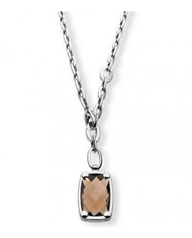Istanti collana pendente donna acciaio con diamante e cristallo smoky - Morellato - OUTLET € 49,00