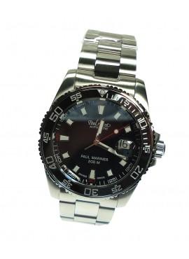 Orologio uomo solo tempo Paul Picot Paul Mariner III Automatico 200M. Acciaio Black