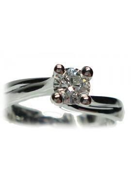 Anello solitario oro bianco e diamante misura 15 - Cicalese Gioielli Valenza Made in Italy
