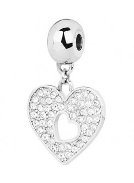 Charm donna Tres Jolie Mini acciaio con cristalli cuore - BrosWay