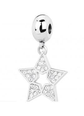 Charm donna Tres Jolie Mini acciaio con cristalli Stella - BrosWay