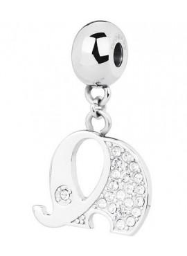 Charm donna Tres Jolie Mini acciaio con cristalli elefantino - BrosWay