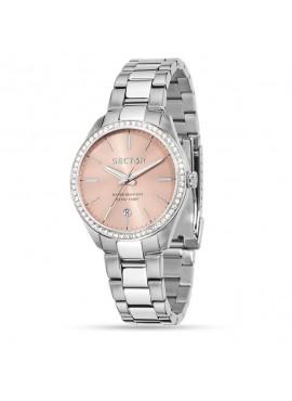 Orologio donna acciaio solo tempo 120 rosa con cristalli - Sector