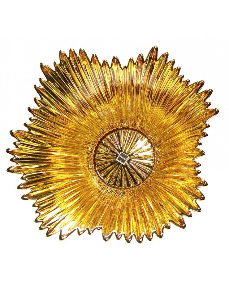 Centrotavola Argenesi Coppa Venezia vetro e argento gold edition cm. 15