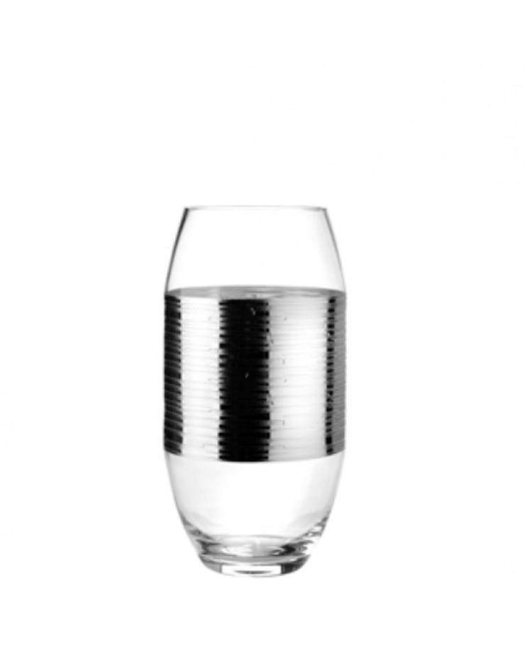 Vaso Argenesi Wall cristallo e argento h cm. 35 - Argenesi