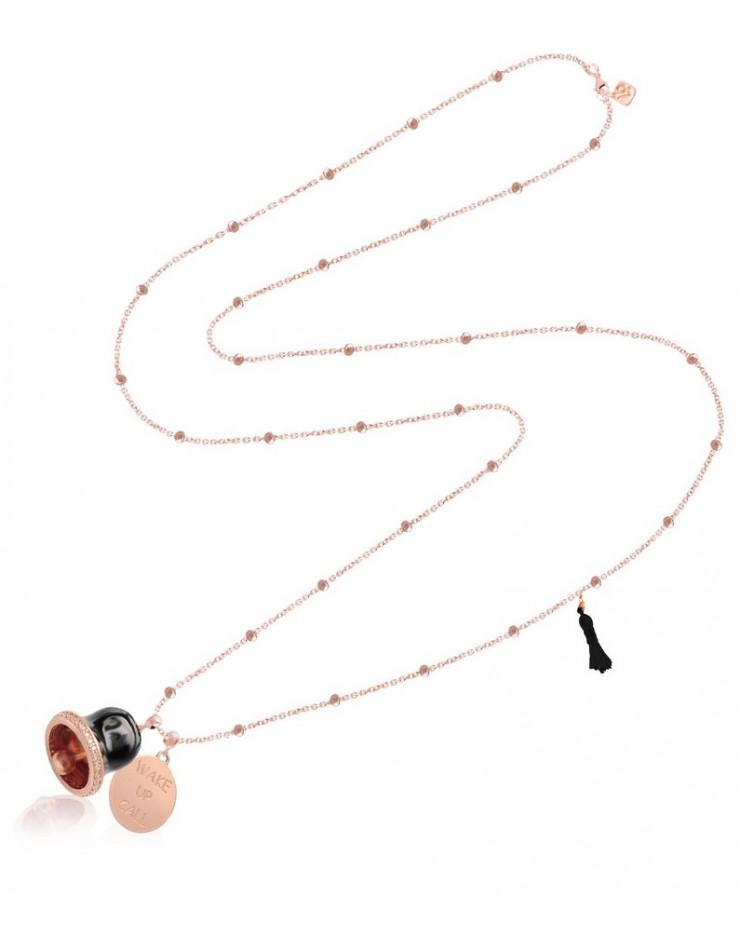 Collana donna Vanessa's Joy Wake Up Call Campanella in argento 925 rosè