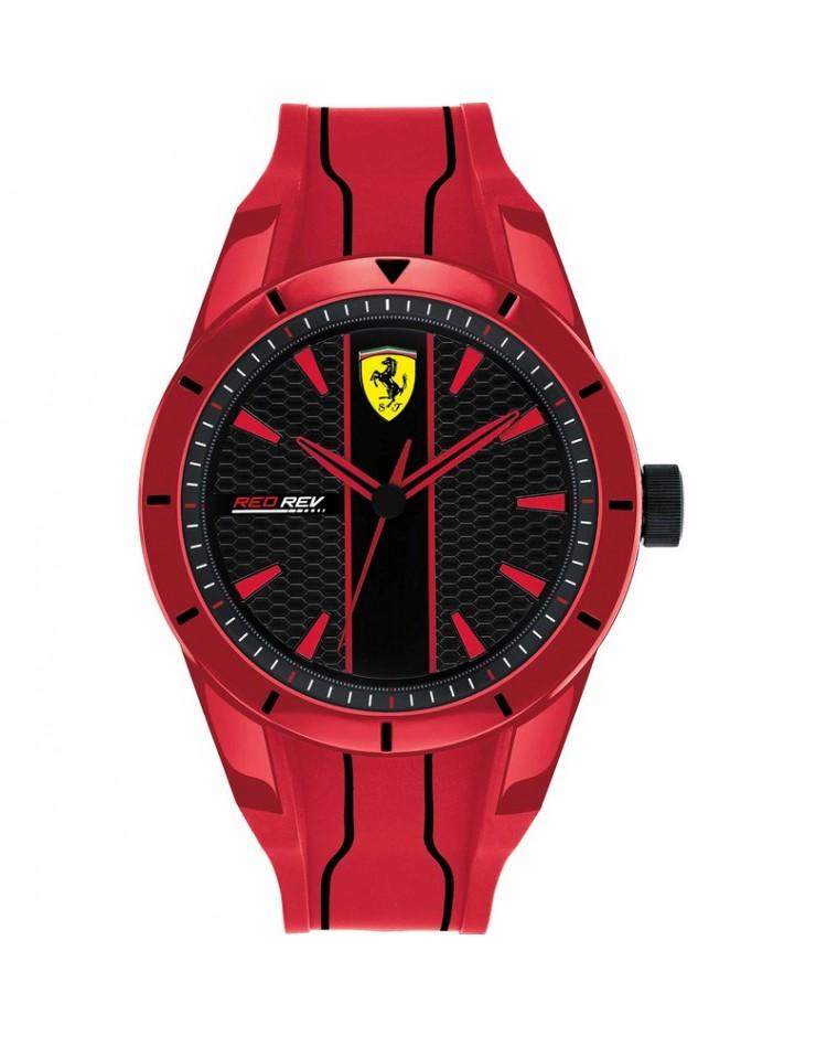 Orologio Solo Tempo uomo Scuderia Ferrari  Red Rev Ferrari