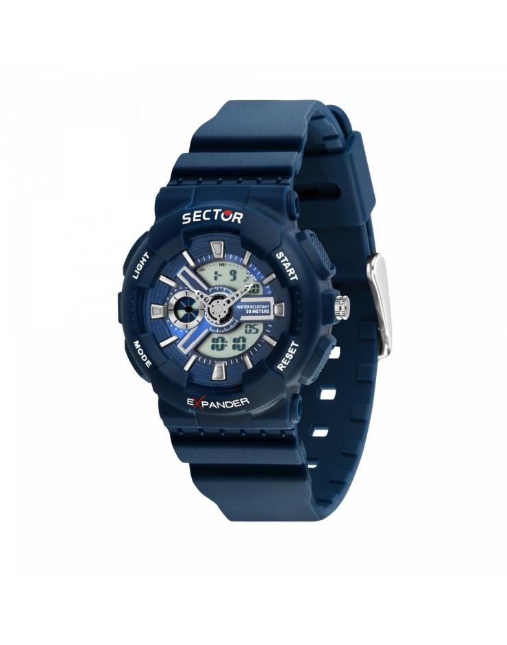 Orologio unisex Sector EX-15 Digitale Blu