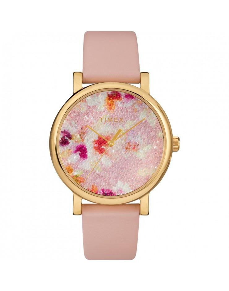 Orologio solo tempo donna Timex Elevated Classic Swarovski Crystal Rose
