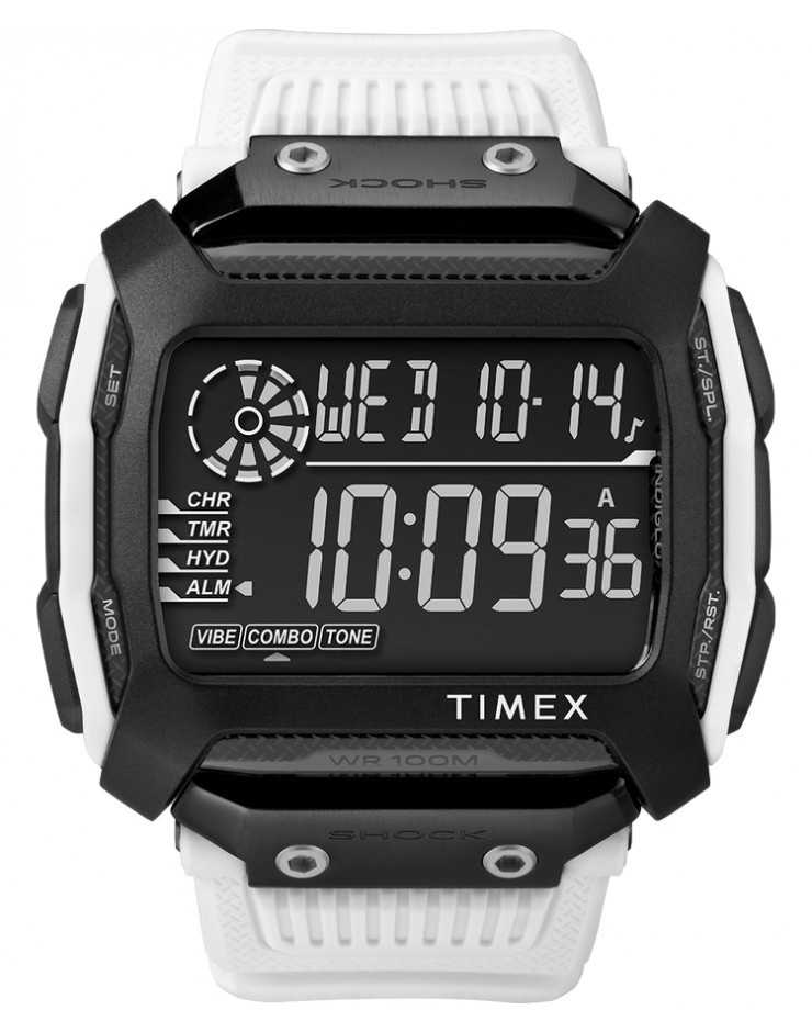 Orologio uomo digitale Timex Command Shock 54mm White