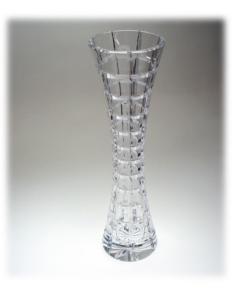 Vaso Cristallo Boemia bianco cm. 25 - Maison Tatiana Fabergè