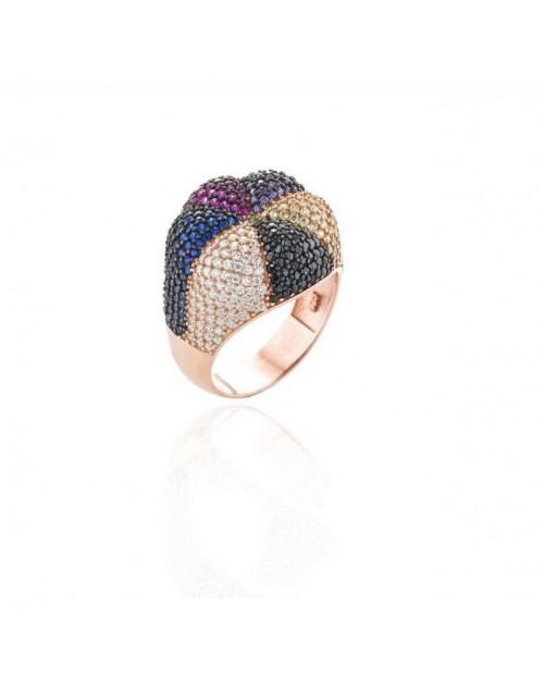 Anello donna argento Sogni gioielli con zirconi multicolor 14