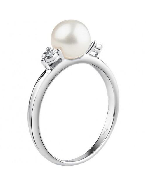 Anello donna Bliss Rugiada Perle oro bianco e diamanti