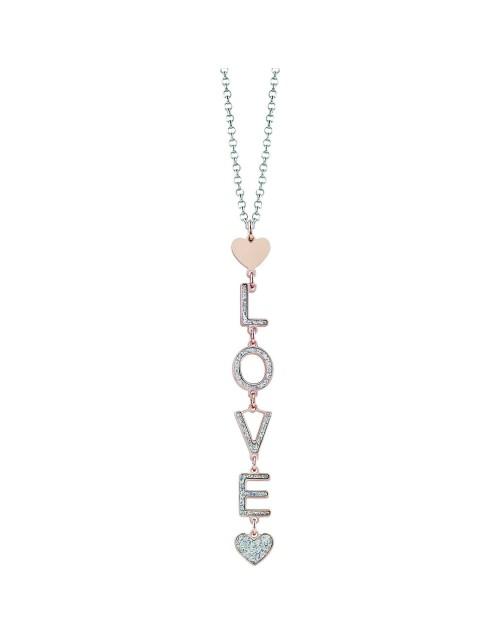 Collana donna bronzo Glittermania Bliss LOVE