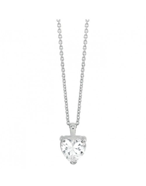 Collana argento Bliss Royale Cuore cubic zirconia
