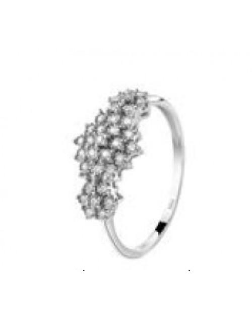 Anello donna oro bianco Bliss Elisir con diamanti ct. 0,11
