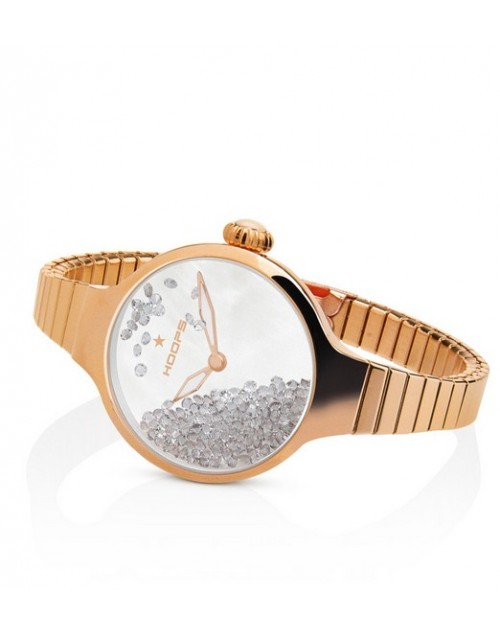 Orologio donna solo tempo Hoops Nuouveau Chèrie Rolling Stones Elastic Gold Grey