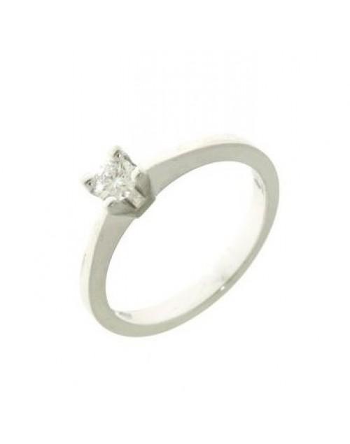 Anello donna oro bianco Solitario con diamanti ct. 0,58 G VS Misura 15 - Cicalese Gioielli Valenza Made in Italy