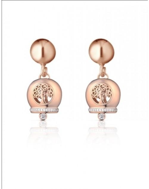 Orecchini donna argento Mediterraneo gioielli Campanella Romantica Albero della Vita rosè