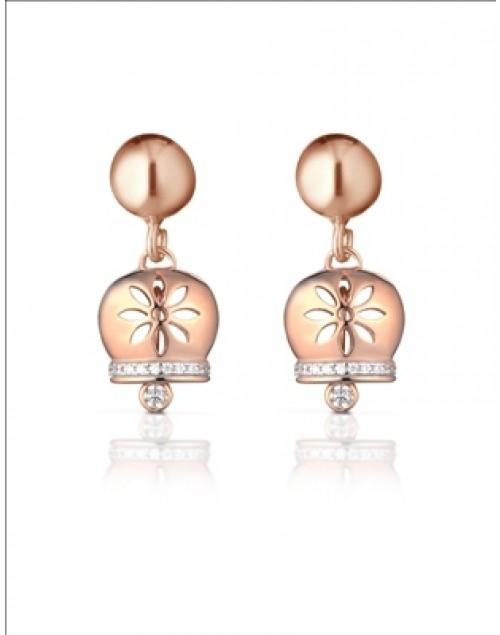 Orecchini donna argento Mediterraneo gioielli Campanella Romantica rose gold