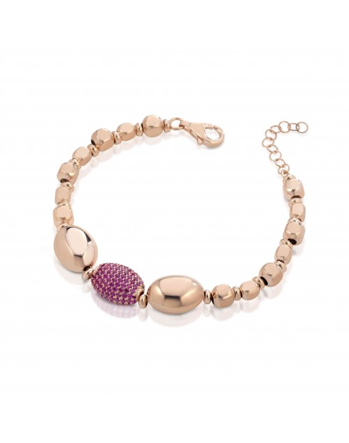 Bracciale donna argento rosè Mediterraneo gioielli