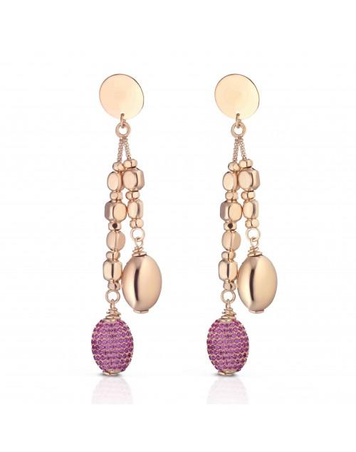 Orecchini argento rosè Mediterraneo gioielli