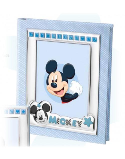Album Portafoto bimbi Disney Celeste Mickey Mouse personalizzabile 20x25 - Mida argenti