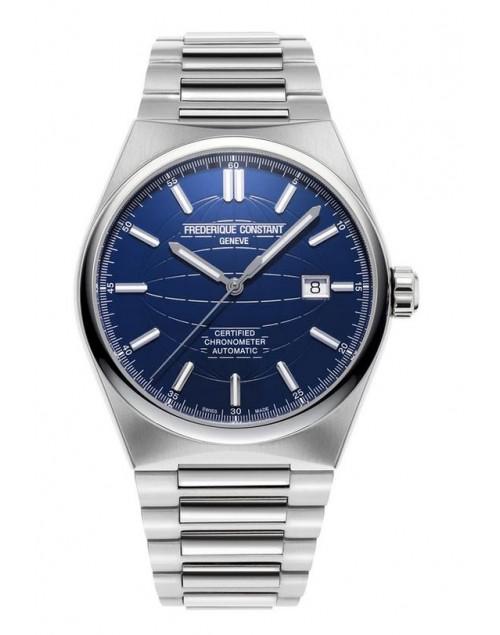 Orologio uomo solo tempo Automatico Frederique Constant Highlife Cosc Certificate Swiss Made acciaio blu + cinturino