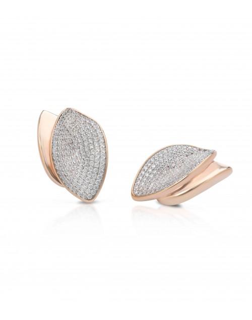 Orecchini argento e cristalli Mediterraneo gioielli