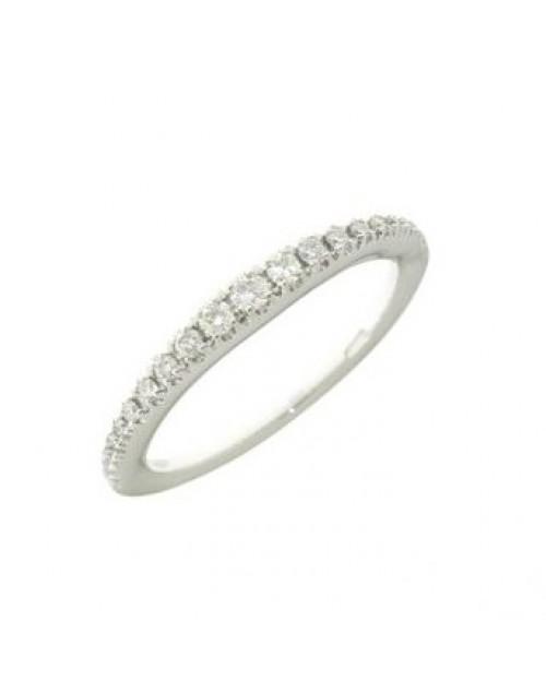 Anello donna oro bianco veretta con diamanti ct. 0,62  Misura 15 - Cicalese Gioielli Valenza Made in Italy