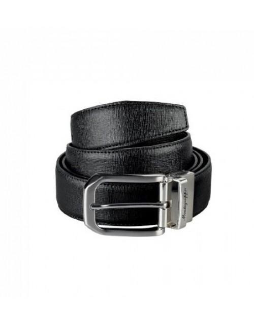 Cintura Montegrappa Pelle di Vitello Saffiano Nero/Marrone